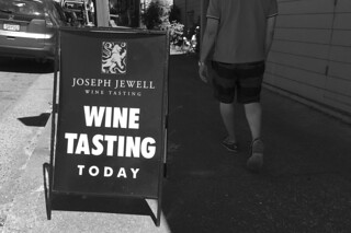 Joseph Jewell Winery - Wine tasting signs