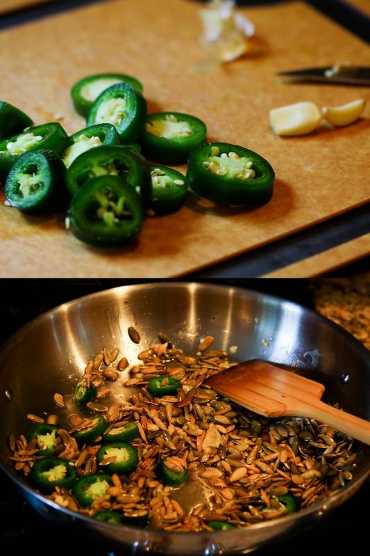 Salsa Verde de Pepitas Process