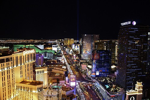 The strip looking South from the top of the Eiffel Tower , Las Vegas | by Smirfman
