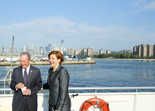 Speaker Quinn and Mayor Bloomberg Ride the East River Ferry in Recognition of One Million Passenger Milestone | by New York City Council