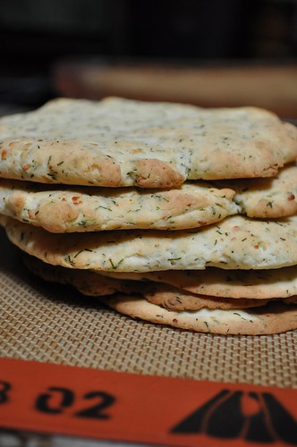 GF Feta & Dill dough - made into pitas | by Kate Chan