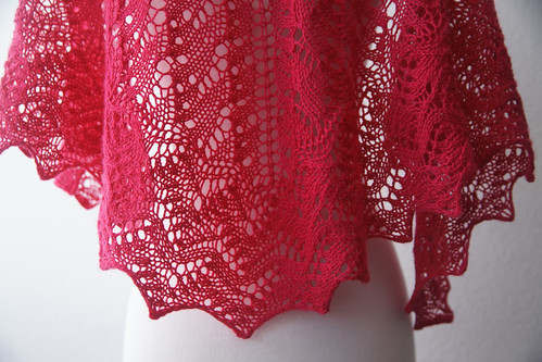 The Lisa One Skein Shawl | by fickleknitter