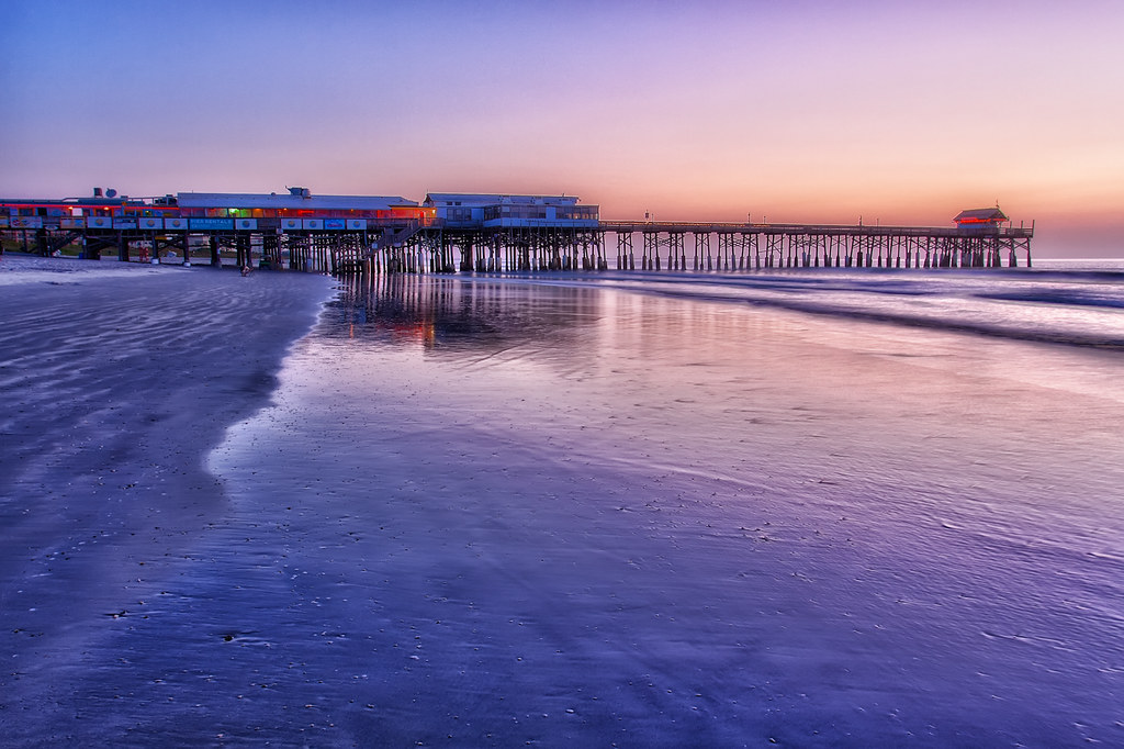Cocoa Beach Pier Reflection