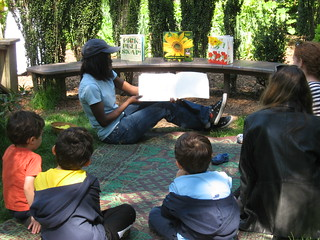 Talsiha reading to families | by Brooklyn Botanic Garden