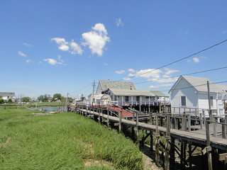 Houses on stilts in Jamaica Bay | by quiggyt4
