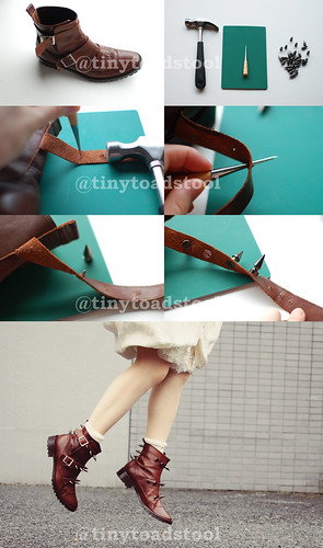 DIY studs boots tutorial | by tinytoadstool by shan shan