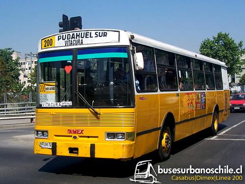 CASA Bus / DIMEX 654-210 / Línea Nº 200 Pudahuel Sur-Vitacura