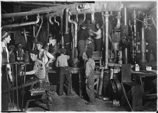 9 P.M. in an Indiana Glass Works, August 1908 | by The U.S. National Archives