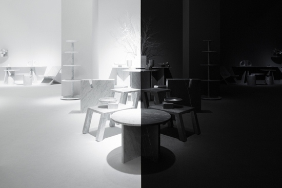Marsotto Edizioni light shadow installation by Nendo