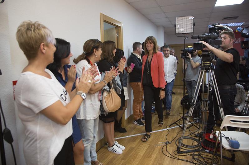 Idoia Mendia interviene en la noche electoral