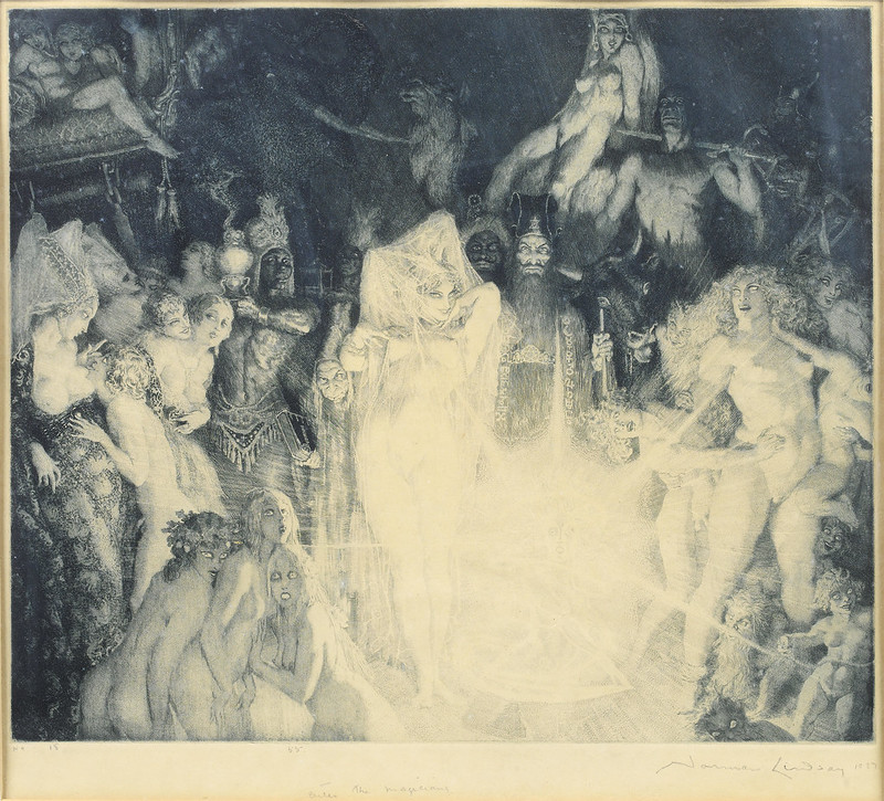 Norman Lindsay - Enter the magicians, 1927