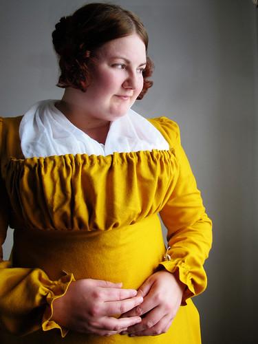 Yellow regency gown - 7