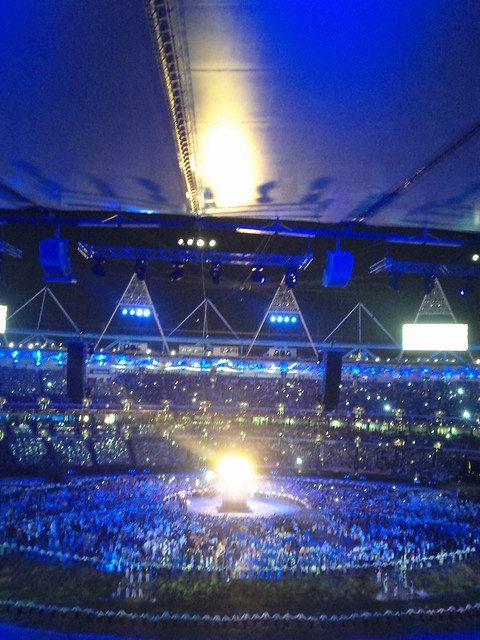 #london2012 #openingceremony flame is lit