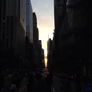 Once again, it's a bit too cloudy and/or I'm a bit too late for a spectacular Manhattanhenge, but it's still entertaining to watch everyone scamper into the middle of the street to snap photographs. | by lehrblogger