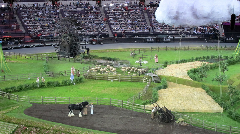 #london2012 #openingceremony sheep & shire horse