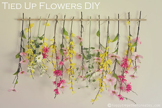 Tied Up Flowers Wall Decor | by ohsohappytogether