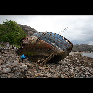 Wreck at the Diabaig beach | by Bats on my lips
