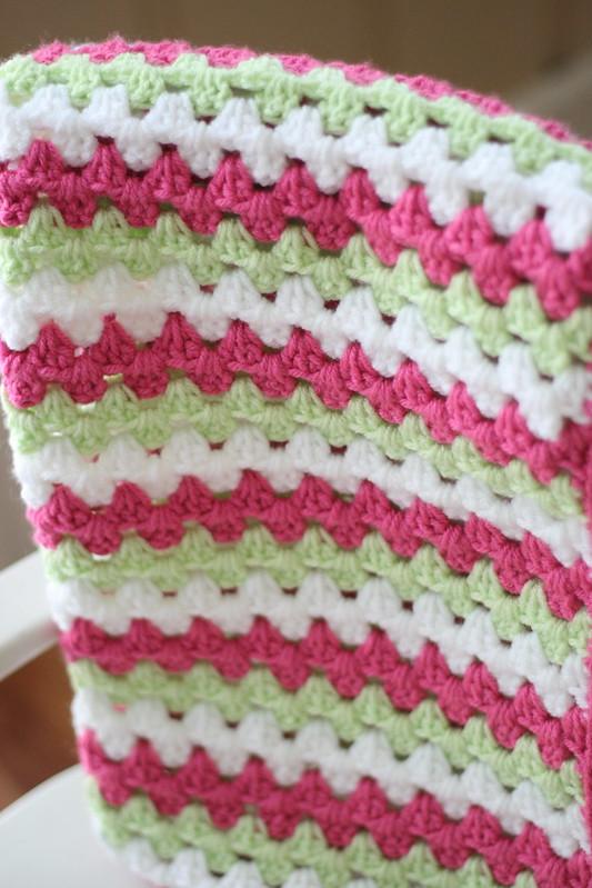 Granny Stripe Blanket free crochet pattern