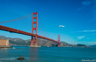 9/21/12 The Golden gate Bridge & the endeavour's Space shuttle last flight | by sbdunkscarl