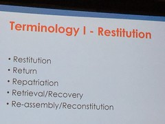 Terminology - Restitution