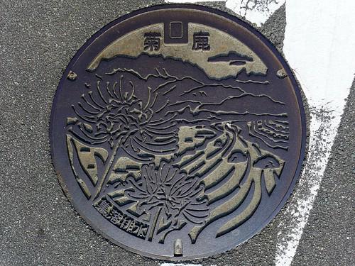 Kikuka Kumamoto, manhole cover (熊本県菊鹿町のマンホール)