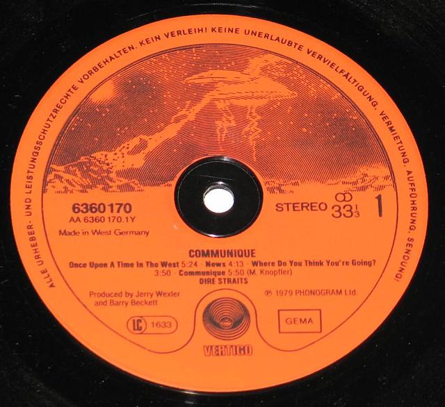 """DIRE STRAITS COMMUNIQUE West Germany 12"""" vinyl LP"""
