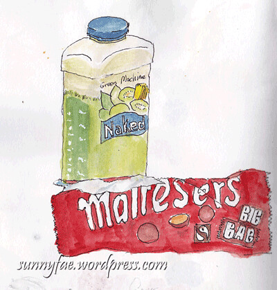 sketcking-maltesers-&-a-drink