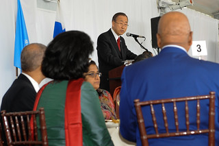 UN Secretary-General delivers the opening remarks at the High-level Lunch Event on Strengthening Women's Access to Justice, co-hosted by Finland, South Africa and UN Women on 24 September 2012 | by UN Women Gallery