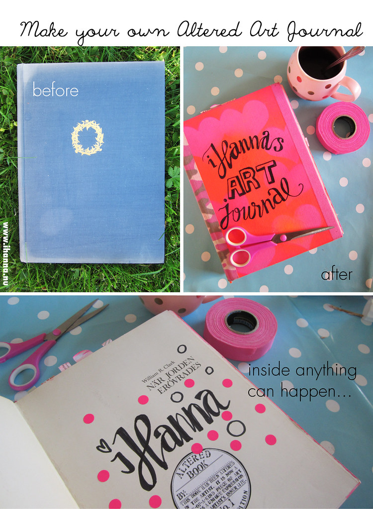 Altered Book Art - the Before and after of my art journal, by iHanna #alteredbook