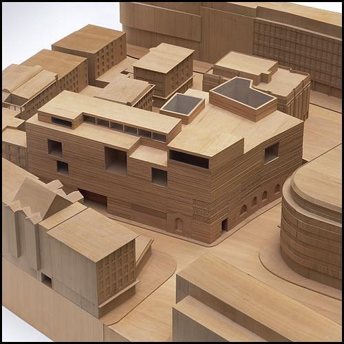 Dam model kolumba 03 peter zumthor kolumba museum for Biblioteca cologne