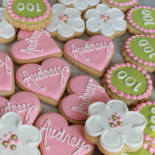 100th Day Mini Celebration Cookies | by Whipped Bakeshop