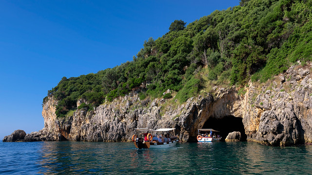 The sea caves of Paleokastritsa, Corfu