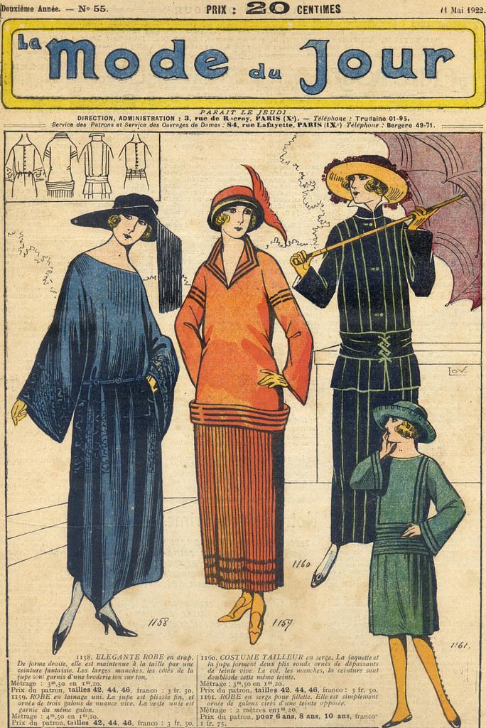 La Mode du Jour, gravure de 1922