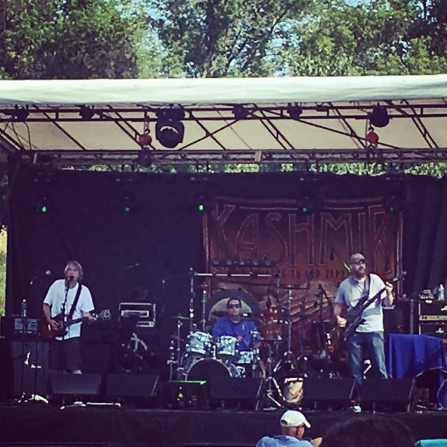 @blabpipe rocking the Claremont Summerfest stage. #blabpipe @blabpipebassist