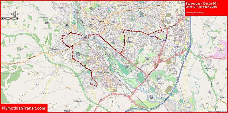 2014 10 01 Stagecoach Devon Route-971 MAP.jpg