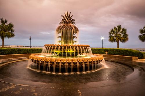 Pineapple Fountain in Charleston-008