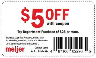 photograph about Meijer Printable Coupons identified as $5/$25 Toy Obtain at Meijer with Printable coupon