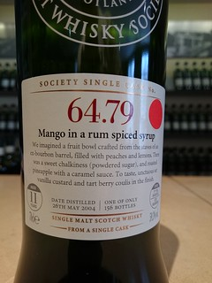 SMWS 64.79 - Mango in a rum spiced syrup
