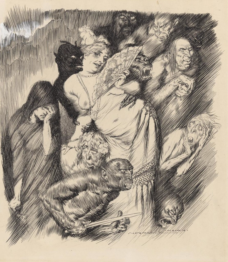 Norman Lindsay - Gathering of the Shades, 1917.jpg