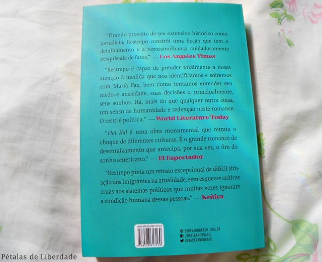 Resenha, livro, Hot-Sul, Laura-Restrepo, editora-bertrand-brasil, thriller, opiniao, critica, contracapa