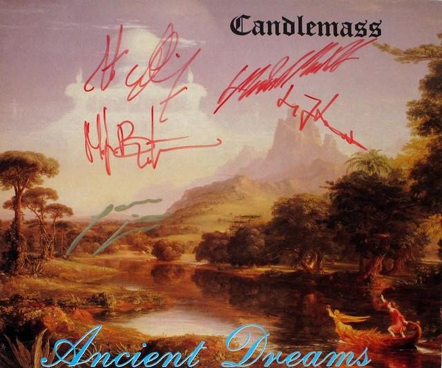 "CANDLEMASS ANCIENT DREAMS SIGNED LYRICS INSERT 12"" LP"