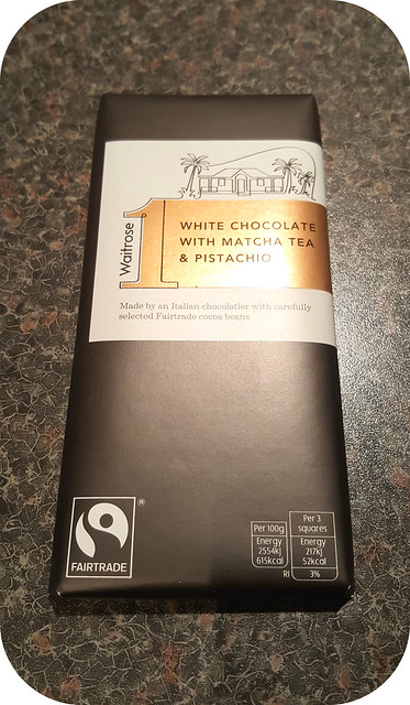 Waitrose 1 White Chocolate with Matcha Tea + Pistachios