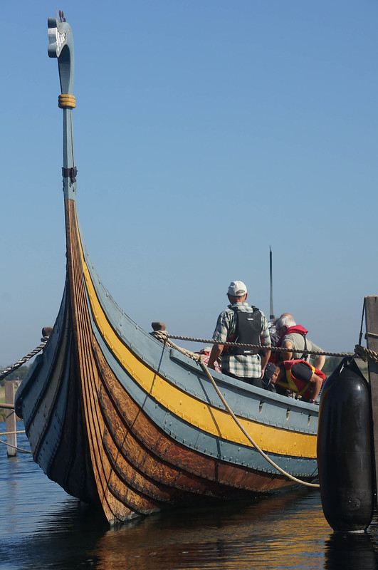 Viking ship, restored