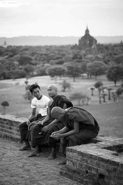 Monks on Tour - Bagan - Myanmar
