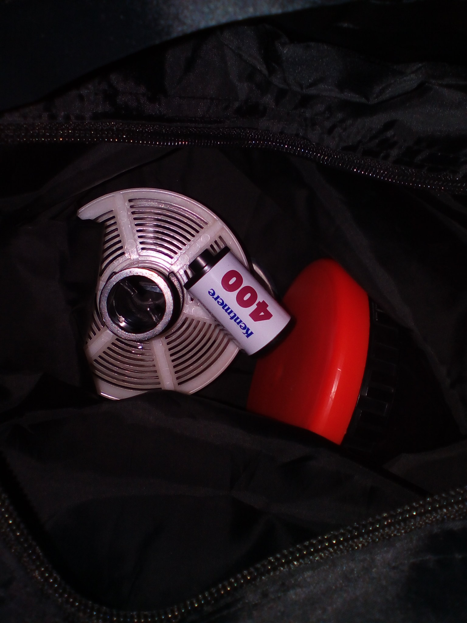 In the changing bag