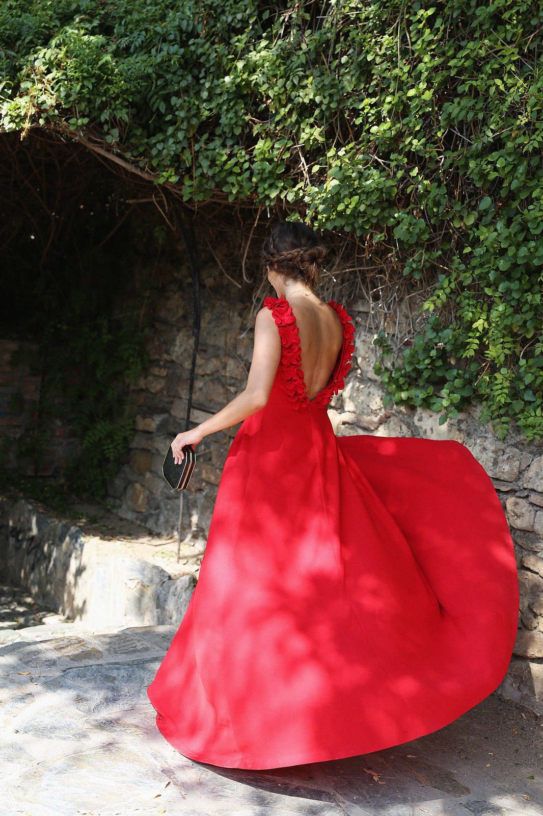 Jessie Chanes Seams for a Desire Apparentia Red Long Dress-5