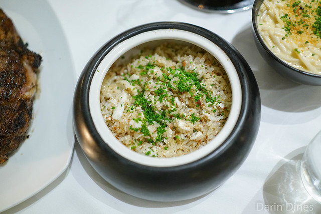 fried rice king crab / lap xuong / egg white / chive