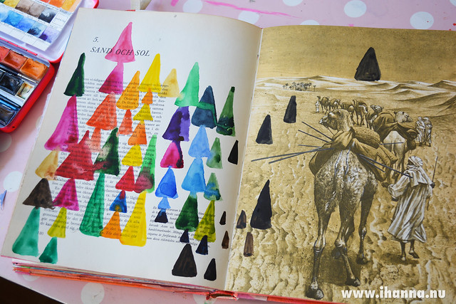 Triangles that are pyramids painted by iHanna