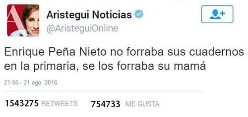 """""""Meme"""" sobre Carmen Aristegui"""