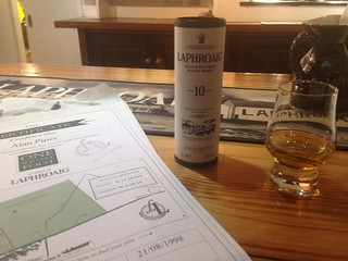 Tasting at Laphroaig distillery